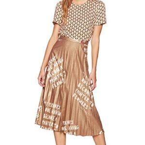 Dear Drew Skirts - Dear Drew Lexington Avenue metallic pleated skirt